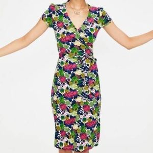 Boden Floral Wrap Dress